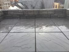 BRADSTONE PATIO PAVING SLABS/FLAGS DERBYSHIRE NOIR 450X450 RIVEN 20573 £13.85sqm