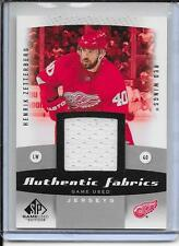 10-11 SP Game Used Henrik Zetterberg Authentic Fabrics Jersey