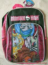 "MONSTER HIGH - 16"" Backpack School Book Bag NEW"