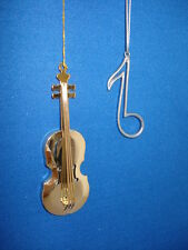 Violin Ornament and Musical Note Set of 2 9082 65