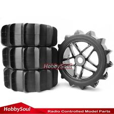 4pcs New RC 1:8 Off Road Baja Buggy Snow / Sand Paddle Tires W/ Hex 17mm Wheels