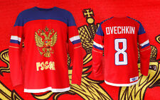 Team RUSSIA RED AUTHENTIC Ice Hockey Jersey Custom Name and Number