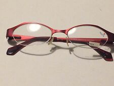 Brand New YOU'S EYEWORKS WOMENS EYEGLASS FRAMES netherlands RED semi-rimless