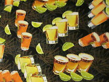SHOT GLASSES REALISTIC TEQUILLA GLASS LIME FRUIT COTTON FABRIC FQ