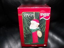 RETIRED 1999 CARLTON CARDS SANTA CLAUS PEZ CANDY DISPENSER CHRISTMAS ORNAMENT