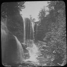 Glass Magic Lantern Slide HAINS FALLS CATSKILL MOUNTAINS C1900 USA PHOTO