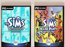 THE SIMS UNLEASHED & THE SIMS HOUSE PARTY. 2 GREAT EXPANSIONS FOR THE SIMS PC!!