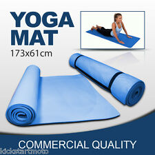 Yoga Mat Pilates Gym Fitness Exercise Stretching | Blue 173 x 61cm | 6MM