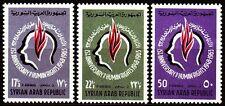 Syrien Syria 1963 ** Mi.851/53 Menschenrechte Human Rights Flamme