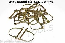 "25pc ROUND SAFETY PINS 1/4"" CAMPER AWNING TRAILER HITCH PIN"