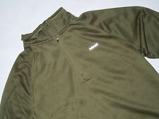 HIND mens 1/4 Zip moss green thermal cool  weather Running Pullover size SMALL