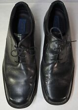 CLARKS Mens Black Leather Casual Lace Oxford Shoes 12 M
