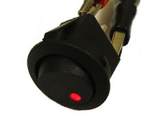 Round Rocker Switch 12V with Red LED light dot car auto rv boat toggle SPST