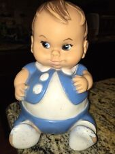 Vintage 1967 Blue PlumPees Plum Pees Rubber Baby Doll UNEEDA DOLL CO. INC