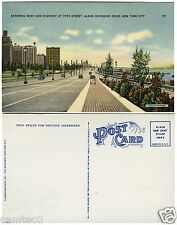 ENTERING WEST SIDE HIGHWAY,  NEW YORK CITY POSTCARD. BY TICHNOR BROTHERS INC.