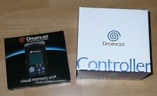 Sega Dreamcast CONTROLLER & Black VMU Visual Memory Unit New Oryginal in Box