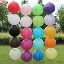 "5pcs 6"" White Round Paper Lanterns Lamp Shade Wedding Party Festival Decoration"