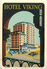 Hotel Viking ~OSLO NORWAY~ Great Old Deco Luggage Label