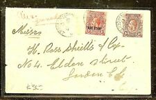ST VINCENT (P2104B)  1916  WAR STAMP +1D TO LONDON