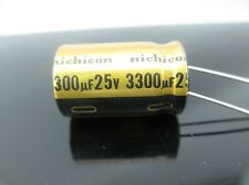 JAPAN 2PCS Nichicon  FW 3300uf 25v 3300mfd Audio Capacitor