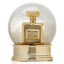 Parfum Snow Dome Globe Winter Snowglobe Home Accents Decor Perfume Gold  Art