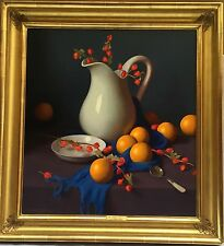 """MAGNIFICENT O/C PAINTING BY W. CHARLES NOWELL """"THE WHITE PITCHER"""" GOLDLEAF FRAME"""