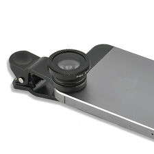 Black 3 in 1 Fish Eye+Wide Angle Micro Lens Camera Kit for iPhone 5G 4S 4 6 Plus