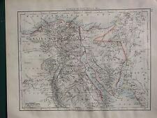1900 mapa Victoriano ~ inferior Egipto Sinaí El CAIRO península de Sinaí de Alejandría