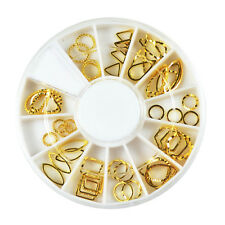 DIY 3D Nail Art Stud Sticker Gold Patch Hollow Metal Frame Decoration Women Gift