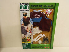 VINTAGE ACTION MAN 40TH WEST HAM UNITED FOOTBALL KIT BOXED (AM99)