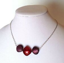 Antica Murrina Satin 1--Murano Glass Necklace And Sterling Silver Chain