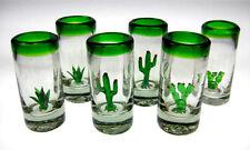 Dos Tres Amigos Mexican tequila SHOT Glasses, 6 cactus