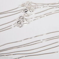 """20 pieces 16"""" and 18"""" Italian Sterling Silver 925 BOX 015 CHAIN Necklaces Lot"""