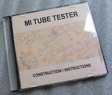 Tube Valve Tester - DVD - Make Build your own - Avo VCM - Heathkit