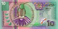 SURINAME 2000 10 GULDEN BANK NOTE  in a Protective Sleeve