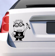Renault minion car vinyl sticker clio megane scenic uk decal funny gift humor
