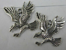 Free shipping 10pcs  Retro style lovely eagle alloy charms pendant 34x31mm