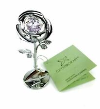 Thank You Gift - Crystocraft Celebration Rose with engraving SP354