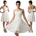 Lace Mini Short Bridesmaid Wedding Guest Ball Bridal Gown Evening Dresses Prom