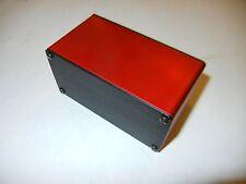 """Aluminum Project box, Enclosure 2""""X4""""X2.8""""  GK4-2.8 Red Color."""