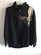 Men's EROSTY POP Los Angeles Rockin' Jelly Bean Zip Front Hoodie Black M-L