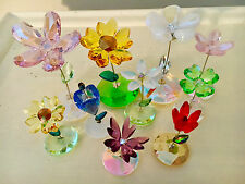 SWAROVSKI   -   THE  ROCKING  FLOWER  COLLECTION  - ALL  10  COMPLETE !!!!