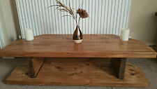 Special Offer Hand Made Rustic Chunky Solid Wood Corner TV Unit Oak Effect