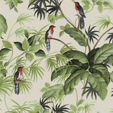 Tapete PS Floral Blätter Palmen Vögel tropisch 05550-40 beige grün rot braun