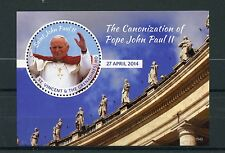 St Vincent & Grenadines 2015 MNH Canonization Pope John Paul II 1v S/S I Stamps
