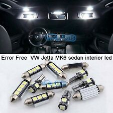 13X White Canbus LED Interior Light Package Kit For 2011+ VW Jetta MK6 sedan  M