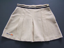 Ellesse Tennis Sports Shorts Skirt W26 in. Beige Pleated Retro Mini Vtg ITAx354