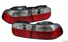 HONDA CIVIC 2/4D EURO REAR ALTEZZA LED TAIL LIGHT LAMP RED CHROME 92 93 94 95