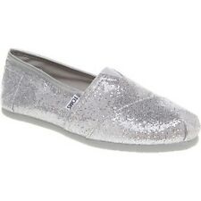 Toms Women Classics Shoes (8.5) Silver Glitter