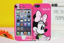 cute Disney minnie mouse Dual back & Front case cover for Apple iPhone 5 5G 5S